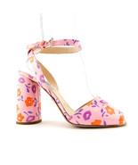 PRADA Size 8.5 Pink Floral Ankle Strap Heels Pumps Shoes 39 Eur - $329.00