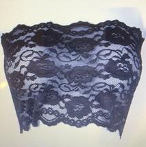 Ally Rose Femmes Noir Dentelle Extensible Topper Caraco Bustier Haut Tube - $16.83