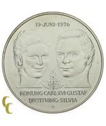 1976 Svezia Argento Sterling 50 Kronor km#854 Fior di Conio Condizioni - $41.66