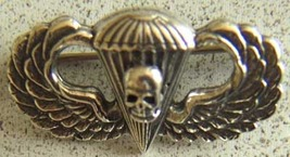 WWII Paratrooper  Pathfinder Badge with Skull Sterling      - $60.00