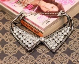 Handmade Full Rhinestone Jag Collar Necklace - £12.98 GBP