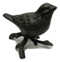 New Small Rustic Decorative Cast IronRight Facing Bird On Branch Paperwe... - $18.69