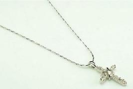 18K Alloy Swarovski Cross Pendant Necklace(Color:Gold /Platinum ) image 3