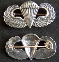 WWII Paratrooper Badge Gaunt Design Sterling British PB             - $60.00