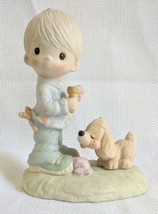 Precious Moments Figurine PRAISE THE LORD ANYHOW 1976 No Mark Jonathan &... - $24.99