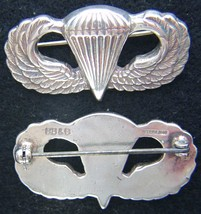 WWII Paratrooper Badge BB&B Design Sterling                   - $65.00