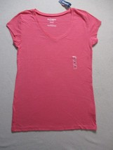 Old Navy Women Top XS Coral Solid V Neck Cotton Modal 17117 - $7.85