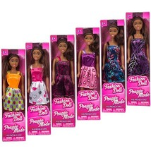 """African-American Fashion Dolls, 11"""". Set of 6 with different clothes. In... - $27.12"""