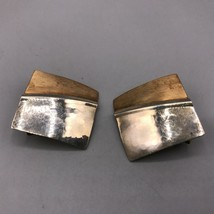 Vintage 14k Gold Filled Copper Hammered Metal Screw On Earrings Mid Century - $53.45