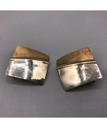 Vintage 14k Gold Filled Copper Hammered Metal Screw On Earrings Mid Century - $53.45