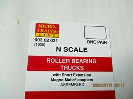 Micro-Trains Stock # 00302031 (1030) Roller Bearing Trucks Short Extension (N) image 3