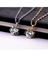 Swarovski Zircon Pussy Cat Pendant Necklace for Women(Color:Gold/Silver) - $19.69