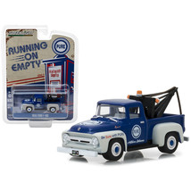 1956 Ford F-100 Tow Truck Blue with Drop-in Tow Hook Pure Oil Running on... - $12.46