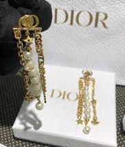AUTH Christian Dior 2019 DANSEUSE ETOILE MULTI STRAND STAR EARRINGS PEARL GOLD image 5