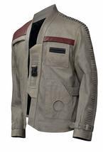 Finn Star Wars Force Awakens John Boyega Beige Leather Jacket image 2