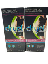 Lot of 2 Dryel Dryer Dry Clean 6 Cleaning Cloths Breezy Clean Scent Qty ... - $29.69