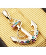Swarovski Crystal Anchor Pendant 18K Alloy Necklace - £15.26 GBP