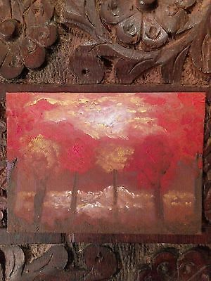 ACEO Original Oil Painting Fine Art Miniature Autumn Landscape Impressionism