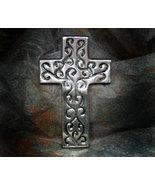 Inspirational Pewter Cross with Swirls - $11.99