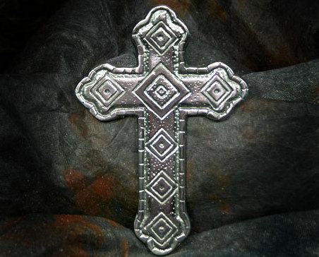 Cross pewter diamonds