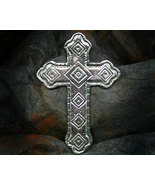 Unique Inspirational Pewter Cross - $11.00