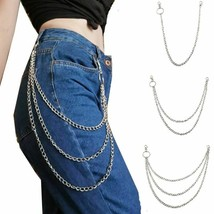 Hipster Punk Chain Long Trousers Key Street Big Ring Metal Wallet Unisex... - $9.49