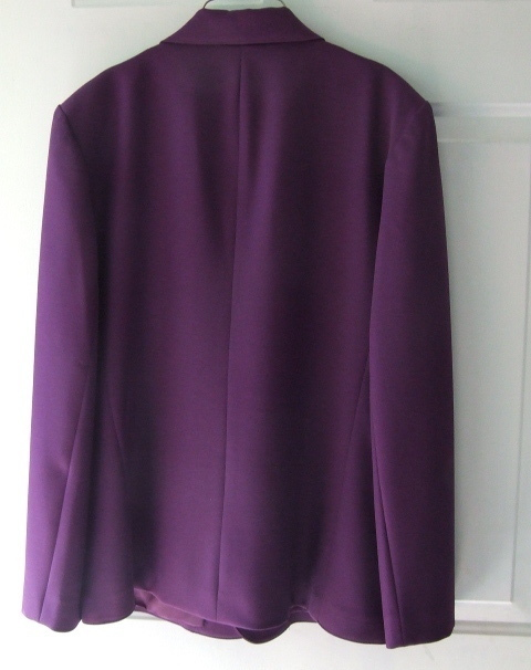 Koret 2 pc Ladies  Suit lined Blazer a line skirt sz 14 Plum
