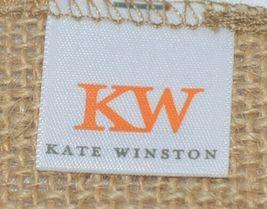Kate Winston Brand Brown Burlap Monogram Black White P Garden Flag image 4