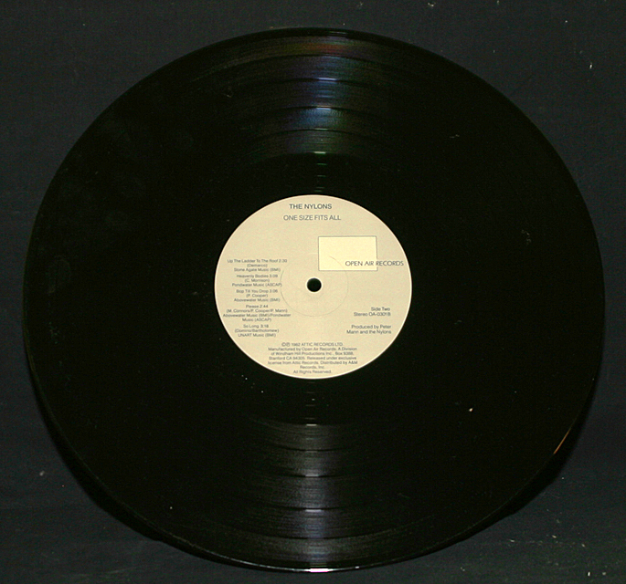 """The Nylons  """"One Size Fits All""""  Open Air Records OA-0301    LP"""
