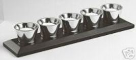 "WATERFORD ""CLARION"" Metal 6 Piece TEALIGHT CENTER PIECE set w/Holder Sil... - $79.75"