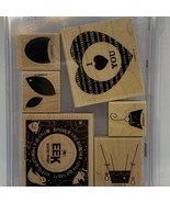 Stampin' Up! Sweet Centers Wood Mounted Rubber Stamp Set - $9.60