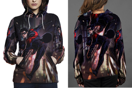 Nightwing action hoodie women s thumb200