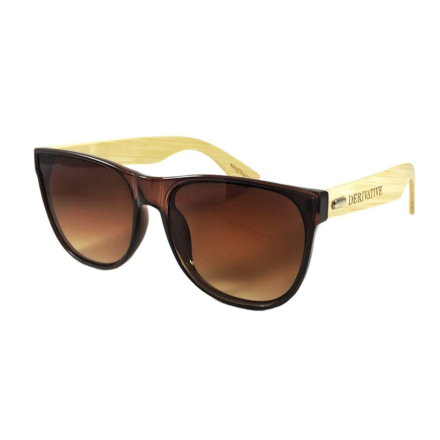 92a28b3501 Derivative Flat Lens Bamboo Sunglasses For and 50 similar items