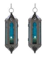 2 Blue Serenity Candle Lanterns - $15.60