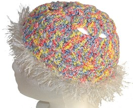 Multicolor Crochet Beanie Hat - $11.80