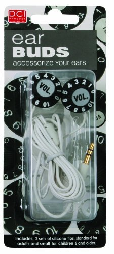 Primary image for DCI 21565 Volume Knob Earbuds - Wired Headsets - Retail Packaging - Black/White