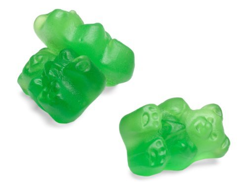 Albanese Granny Smith Green Apple Gummi Bears, 5-Pound Bags (Pack of 2)