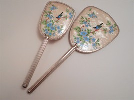 Vintage Bird Picture Hand Mirror & Brush Made in England image 2