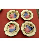 "Home Trends Granada Soup Cereal Bowls, Lot of 4, 8"" Wide, Lot of 4, Frui... - $19.97"