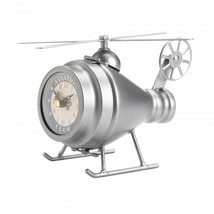 Silver Helicopter Desk Clock - $32.14