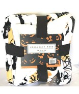 Halloween plush throw blanket Spooky Haunted House theme 50x60 holiday h... - $29.99
