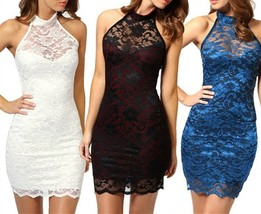 Hot Sale Sexy Women Lace Party  Dress Chinese style Bandage Halter Colla... - $27.54