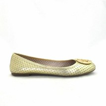 9 - Tory Burch Reva Gold Metallic Leather Perforated Ballet Flats 0217CM - $75.00