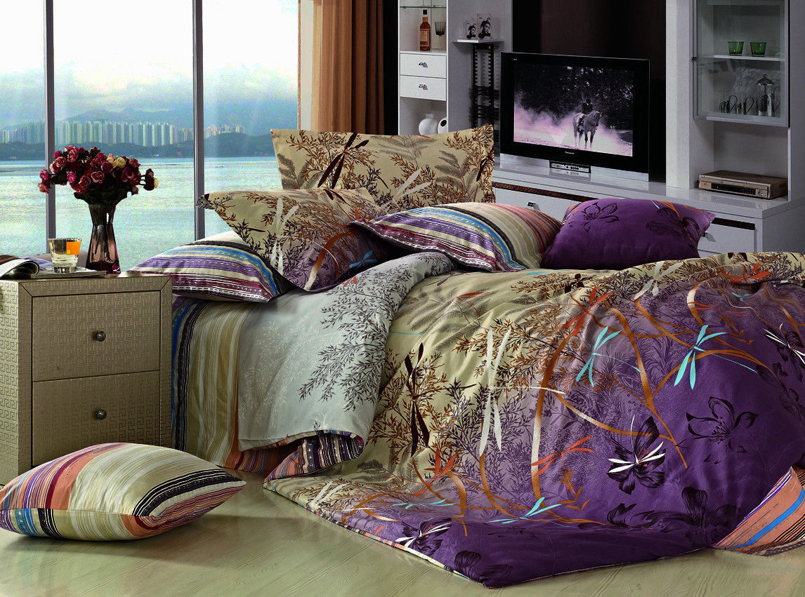 New REVERSIBLE DRAGONFLY FIELD Duvet Cover Twin 2Pcs Set and ... : dragonfly quilt cover - Adamdwight.com