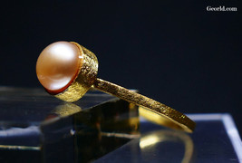 Gold and Silver Pearl Ring, size 6 1/4 and 7 3/4 - $28.00