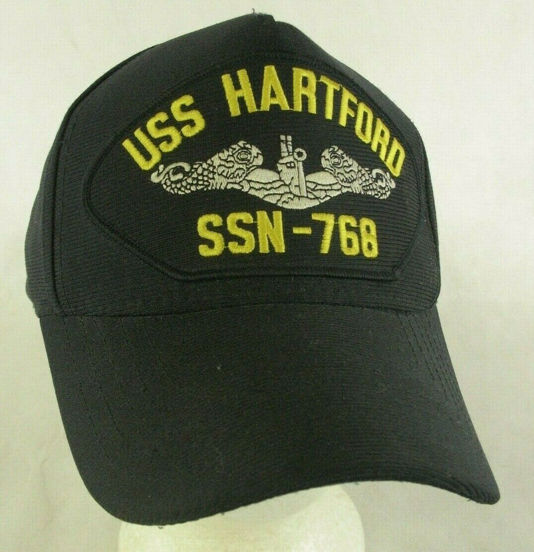 Primary image for USS Hartford SSN 768 Navy Submarine Black Snapback Hat Cap