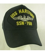 USS Hartford SSN 768 Navy Submarine Black Snapback Hat Cap - $16.82