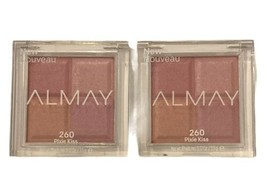 Almay Shadow Squad Eyeshadow Quad 260 PIXIE KISS Pink Limited Edition - LOT OF 2 - $12.86