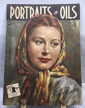 Portraits in Oil How to Book Stella Mackie 50s Art Walter T Foster 8C - $11.87