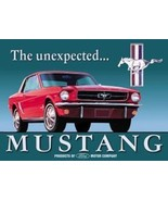 Classic FORD Mustang The unexpected Ad Tin Sign Reproduction NEW UNUSED - $5.94